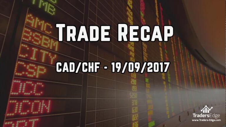 Trade Recap – CADCHF – 19th Sept 2017 for +2.16R Gain